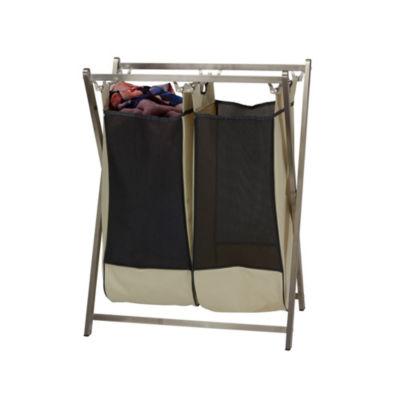 Household Essentials Folding X-Frame Laundry Sorter Hamper