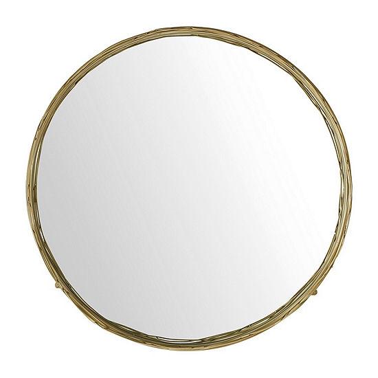 Round Mirror with Wire Nest Frame