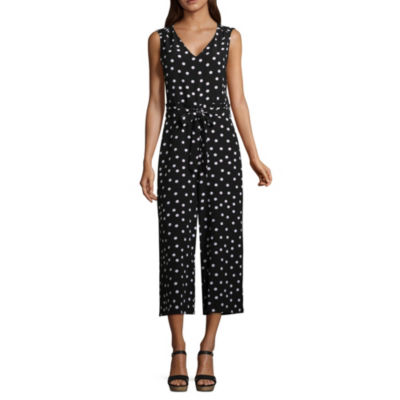 a.n.a. Cropped Sleeveless Jumpsuit