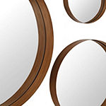 3 pc Banded Round Mirrors