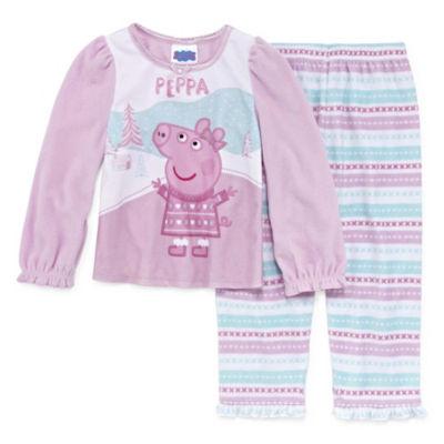 2-pc. Peppa Pig Pant Pajama Set Girls