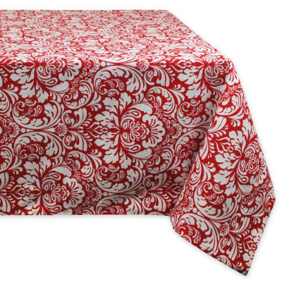 Design Imports Damask Tablecloth