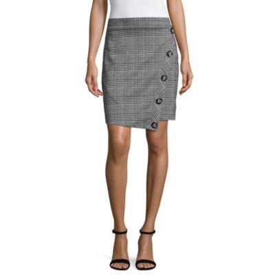 by&by Womens Short Asymmetrical Skirt-Juniors