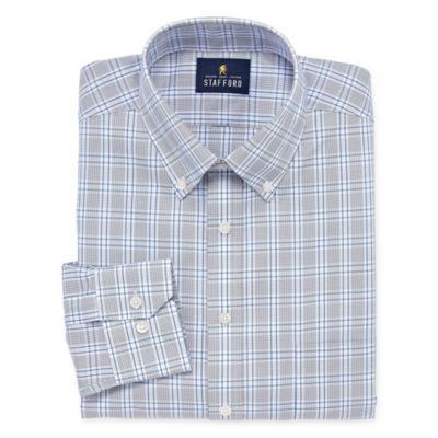 Stafford Executive Non-Iron Cotton Pinpoint Oxford Long-Sleeve Dress Shirt