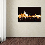 Trademark Fine Art Michael Tompsett New York Skyline Gold Giclee Canvas Art