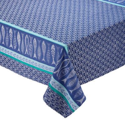 Design Imports Santorini Jacquard Tablecloth