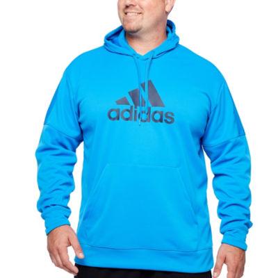 adidas Long Sleeve Fleece Hoodie-Big and Tall