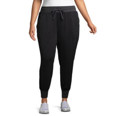 St. John's Bay Active Texture Mix Jogger Pant - Plus
