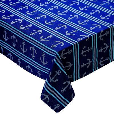 Design Imports Anchor Stripe Tablecloth