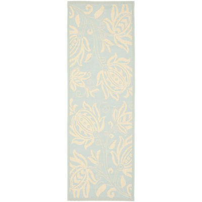 Safavieh Courtyard Collection Tarek Floral Indoor/Outdoor Runner Rug