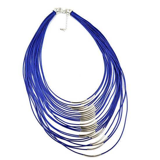 Mixit Blue 20 Inch Strand Necklace