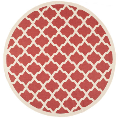 Safavieh Courtyard Collection Bailey Geometric Indoor/Outdoor Round Area Rug