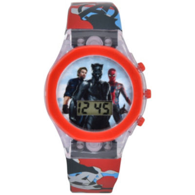 Avengers Marvel Boys Multicolor Strap Watch-Avi4036jc