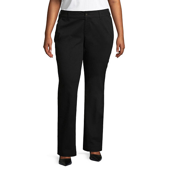 Arizona Schoolgirl Straight Pants - Juniors Plus