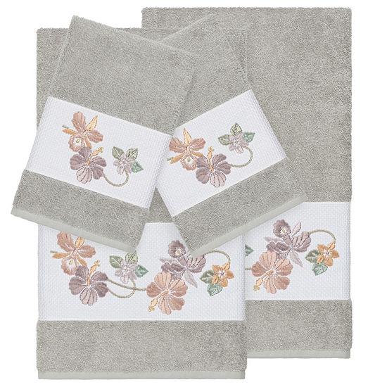 Linum Home Textiles 100% Turkish Cotton Caroline 4PC Embellished Towel Set
