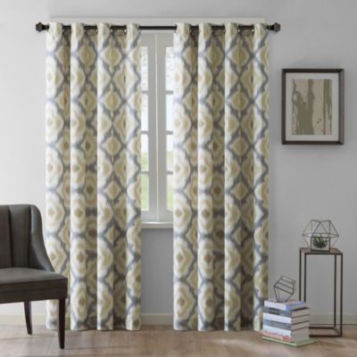 INK+IVY Ankara Cotton Printed Grommet-Top Curtain Panel