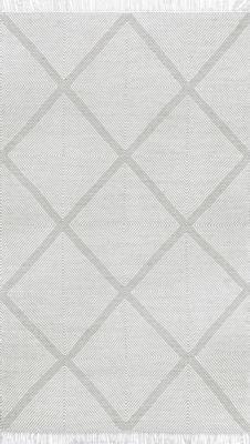 nuLoom Concetta Trellis Fringe Wool Flatweave Area Rug