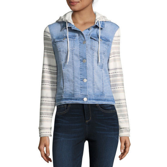 Wallflower Lightweight Denim Jacket-Juniors