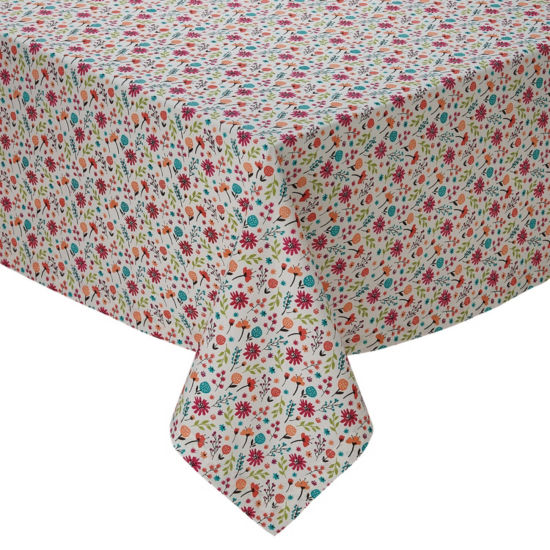 Design Imports Garden Party Printed Tablecloth