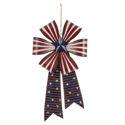 Patriotic Iron Bow Wall Decor