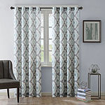 INK+IVY Ankara Cotton Printed Light-Filtering Grommet-Top Curtain Panel