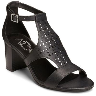 A2 by Aerosoles Womens Dotted Line Slip-On Shoe Open Toe