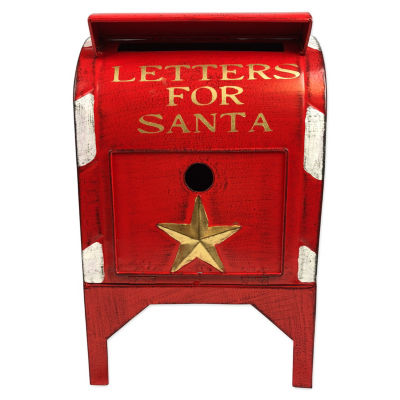 Letters To Santa Mailbox Tabletop Decor