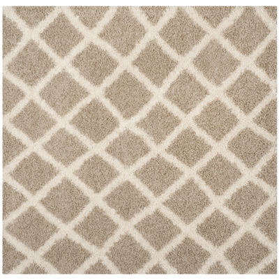 Safavieh Dallas Shag Collection Cara Geometric Square Area Rug