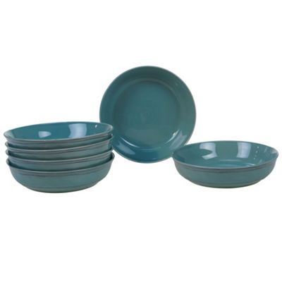 Certified International Orbit Teal 6-pc. Soup Bowl