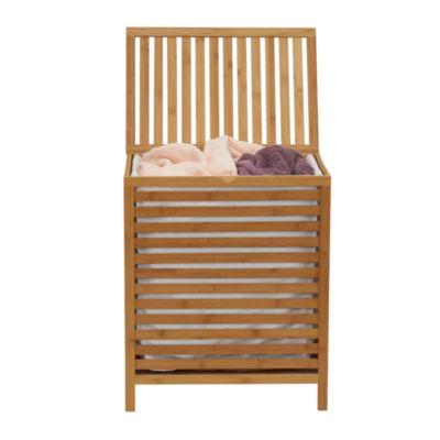 Household Essentials Bamboo Open Slat Hamper