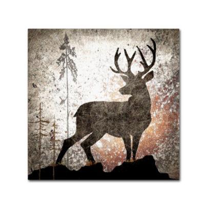 Trademark Fine Art Light Box Journal Calling Deer Giclee Canvas Art