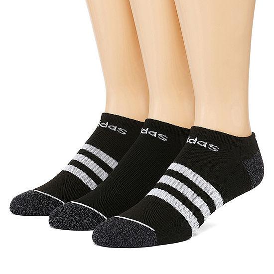 adidas Core 3 Stripe 3 Pair No Show Socks-Mens