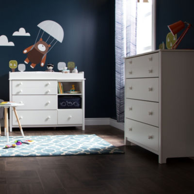 Little Smileys Changing Table and 4-Drawer Chest Set