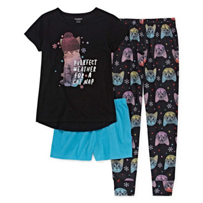 Arizona 3pc Cat Nap Pajama Set - Girls 4-16 & Plus
