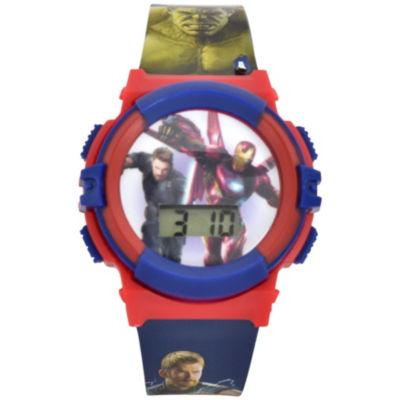 Avengers Marvel Boys Multicolor Strap Watch-Avi4035jc