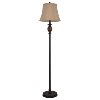 "Decor Therapy 61"" Bronze and Marble Floor Lamp"