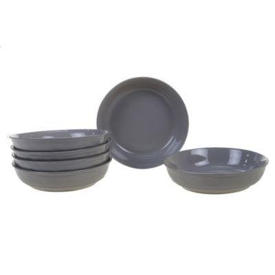 Certified International Orbit Grey 6-pc. Soup Bowl