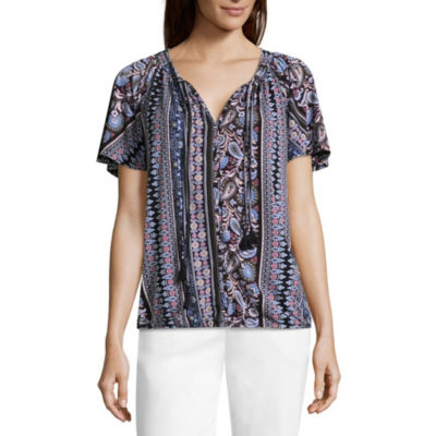 Liz Claiborne Peasant Top - Tall