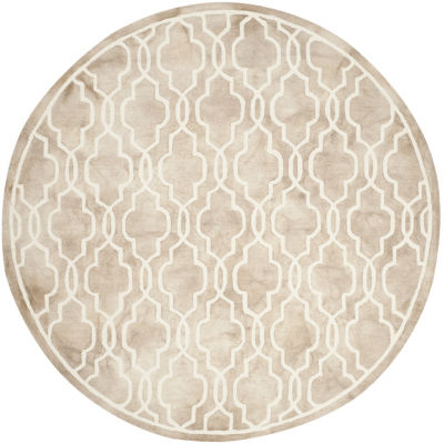 Safavieh Dip Dye Collection Jalen Geometric RoundArea Rug