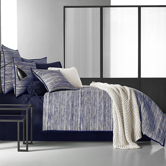 Five Queens Court Felix 4-pc. Stripes Heavyweight Comforter Set