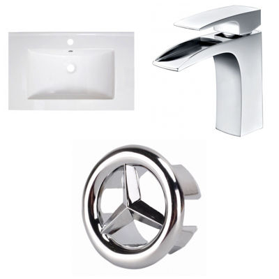 30-in. W 1 Hole Ceramic Top Set In White Color - CUPC Faucet Incl.