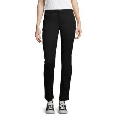 Arizona Slim Fit Straight Pants-Juniors