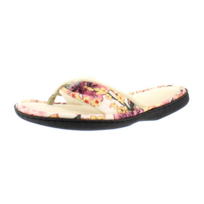 Gold Toe Floral Slip-On Slippers