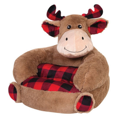 Trend Lab Children's Plush Buffalo Check Moose Character Kids Chair