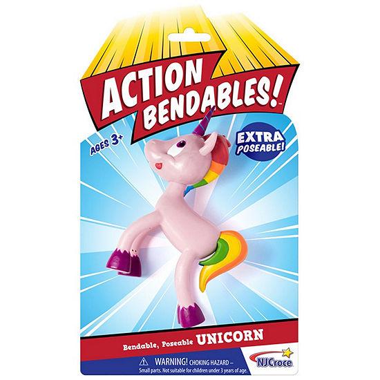 "Nj Croce Action Bendalbes! - 4"" Unicorn Action Figure"