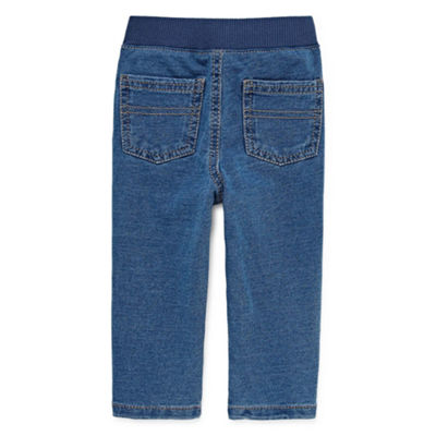 Okie Dokie Light Wash Denim Pull-On Pant - Baby Boy NB-24M