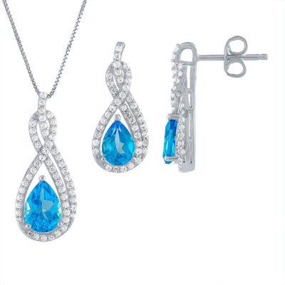 2-pc. Genuine Blue Topaz Sterling Silver Jewelry Set