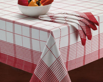 Design Imports Country Plaid Tablecloth