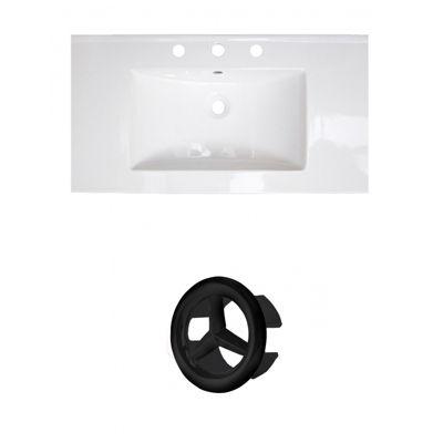 36.75-in. W 3H8-in. Ceramic Top Set In White Color