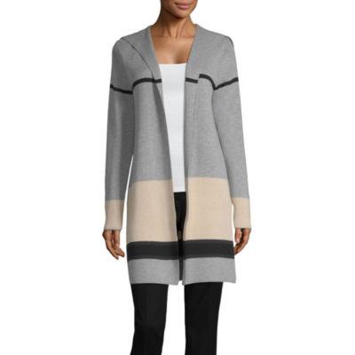 Alyx Womens Long Sleeve Open Front Stripe Cardigan